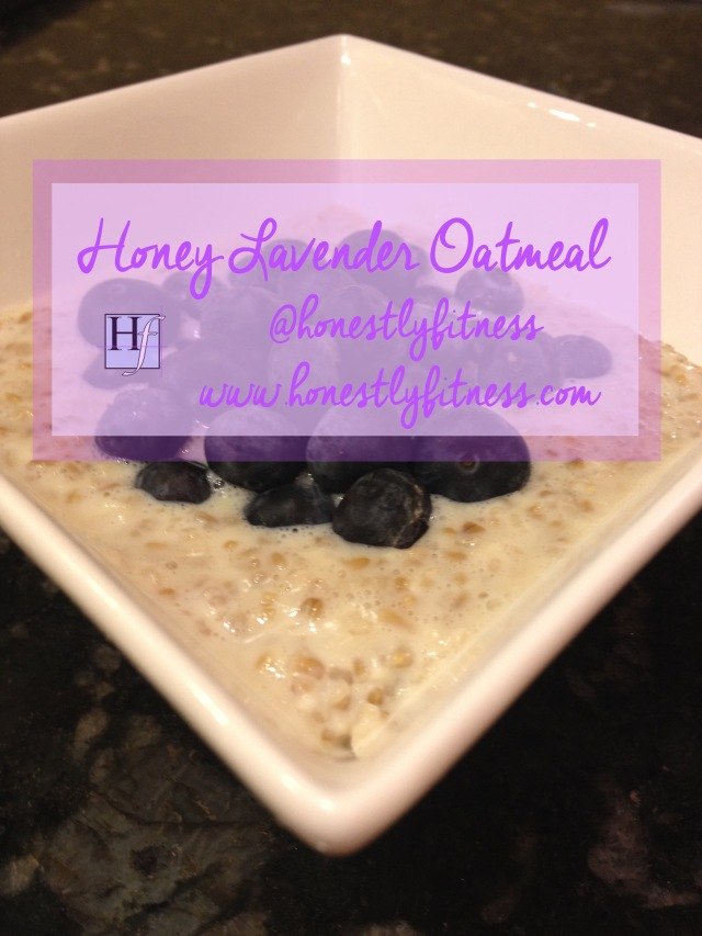 Honey Lavender Oatmeal with Blueberries